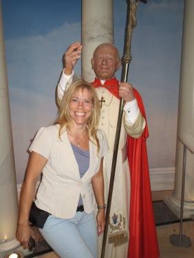 Figure de cire du Pape Jean-Paul II au musée de Madame Tussauds à New York