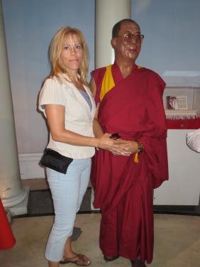Figure de cire du Dalaï-Lama  au musée de Madame Tussauds à New York